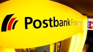 Die Postbank will kein Englisch sprechen