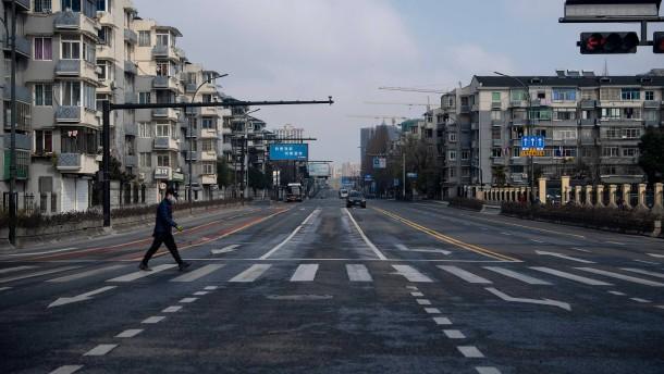 Leere Straßen in chinesischer Millionenstadt