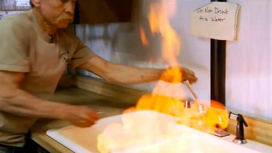 """Heiße Sache: Ein Bild aus dem Trailer des Films """"Gasland"""""""