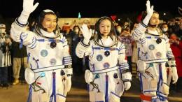 Start am chinesischen Raumfahrtbahnhof