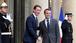 Macron und Kurz zufrieden mit Ergebnis in Berlin