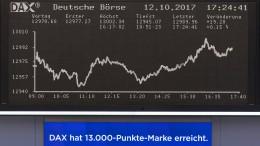 Dax knackt die 13.000er Marke