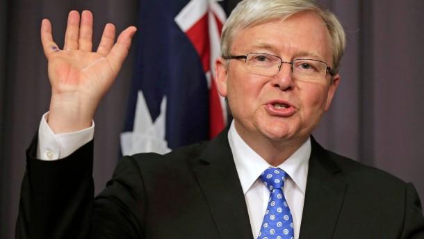 Kevin Rudd als Premierminister vereidigt