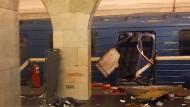 Tote bei Explosion in St. Petersburg