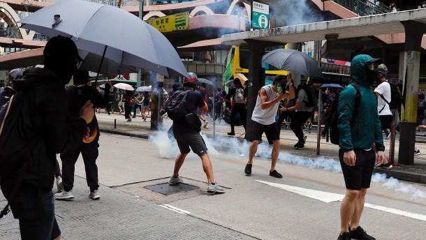 Proteste gegen neues Sicherheitsgesetz in Hongkong
