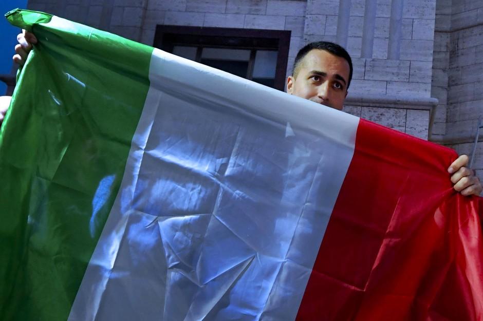 Fünf-Sterne-Chef Luigi Di Maio auf einer Wahl-Veranstaltung.