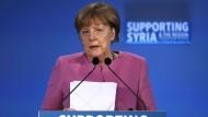 Merkel fordert Assad-Regime zu Waffenruhe auf