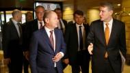 Der neue Vizekanzler und Bundesfinanzminister Olaf Scholz (SPD) bei seiner Ankunft in Buenos Aires.