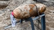 Weltkriegsbombe auf Baustelle gefunden