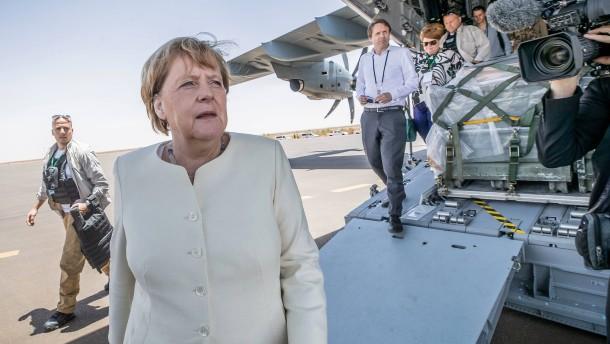 Mit Frau Merkel über den Wolken