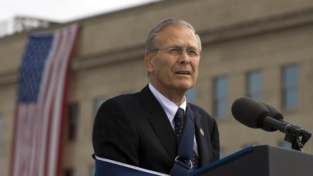 Früherer US-Verteidigungsminister Donald Rumsfeld ist tot