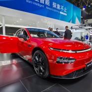700 Kilometer ohne Nachladen: der P7 des chinesischen Start-ups Xpeng auf der Messe in Peking