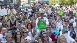 """""""Querdenken""""-Demo mit 1000 Menschen in Hamburg"""