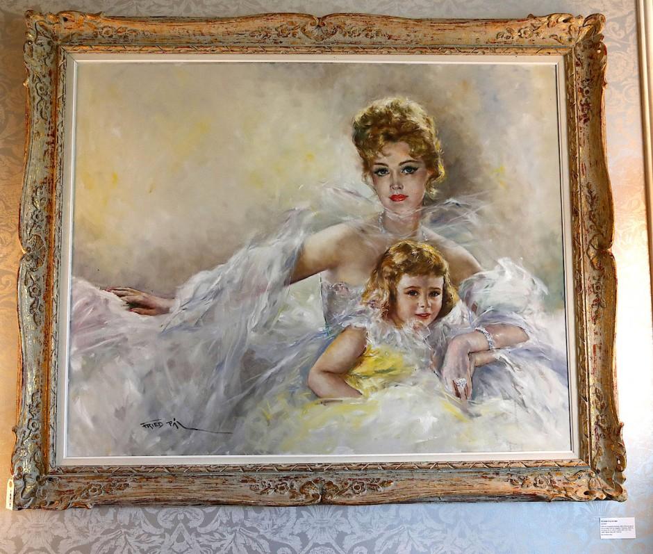 Alles muss raus: Auch dieses Gemälde, das Zsa Zsa Gabor mit ihrer Tochter Francesca zeigt