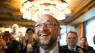 Martin Schulz beim Hessengipfel in Friedewalt