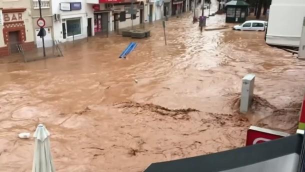 Überschwemmungen im Südwesten von Spanien