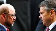 Aus Freunden wurden Kontrahenten: Martin Schulz und Sigmar Gabriel