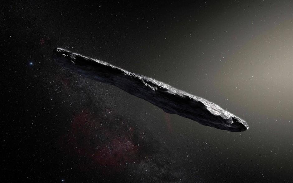"""Eine Rekonstruktion des  Asteroiden 1I/2017 U1 """"Oumuamua"""" auf Basis von Messdaten."""