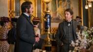 Nur einmal begegnen sie sich, jedenfalls im Film: Michael Shannon als George Westinghouse und Benedict Cumberbatch als Thomas Edison