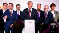 Der FDP-Parteivorsitzende Christian Lindner am Sonntagabend in Berlin