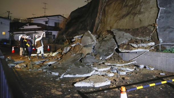 Schweres Erdbeben in Japan