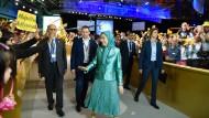 Maryam Rajavi beim jährlichen Treffen der Nationalen Widerstandsrats Iran.