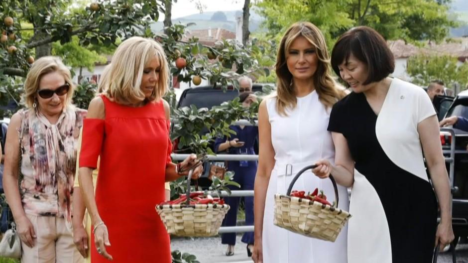 Partnerinnen der Staatschefs besuchen Baskenland