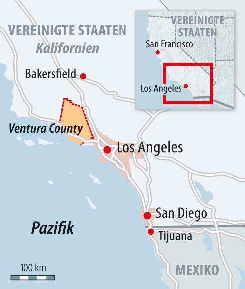 Kalifornien Karte.Bilderstrecke Zu Kalifornien Winde Fachen Feuer Weiter An Bild 2