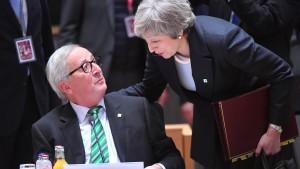 Juncker schließt Neuverhandlungen über Brexit-Vertrag weiter aus