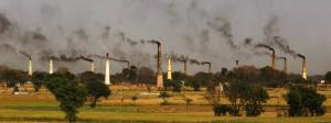 Ziegeleien in der Nähe von Neu-Delhi