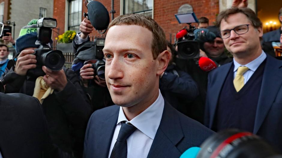 Facebook-Gründer Mark Zuckerberg im Jahr 2019 in London