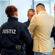 Alaa S. am Donnerstag vor Gericht in Dresden