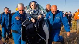 Drei ISS-Astronauten zurück auf der Erde