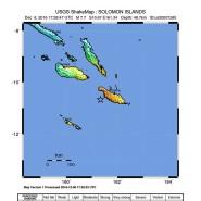 Das Epizentrum (markiert mit einem Stern) bei den Salomonen-Inseln