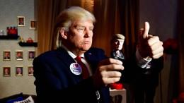 Trump als Live-Figur in Berlin