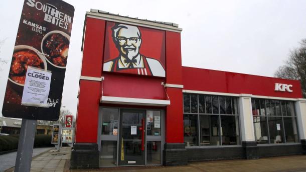 Hunderte britische KFC-Filialen bleiben geschlossen