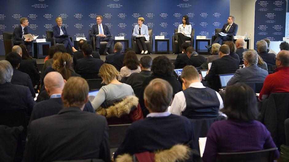 Pressekonferenz für das diesjährige Weltwirtschaftsforum