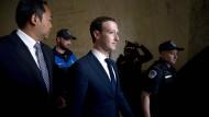 Mark Zuckerberg am Mittwoch in Washington.
