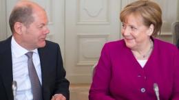 Merkel und Scholz demonstrieren guten Willen der Groko
