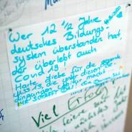 Ein handschriftlicher Gruß an die Abiturienten des Gymnasiums Mainz-Oberstadt