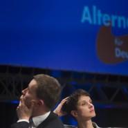 In welche Richtung steuert die AfD? Bernd Lucke und Frauke Petry beim Bundesparteitag in Bremen