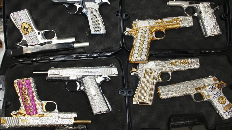 Konfiszierte Waffen in Mexiko