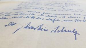 Was Martin Schulz' Handschrift über ihn verrät