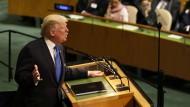 Unverhüllte Drohung nach Nordkorea: Donald Trump vor den UN