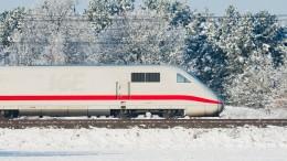 ICE-Züge wegen Schnee und Eis langsamer unterwegs