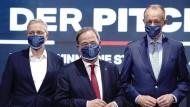 Die drei Kandidaten für den CDU-Vorsitz: Norbert Röttgen, Armin Laschet und Friedrich Merz (v.l.n.r.)