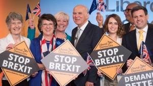 Liberale und Brexit-Partei überholen Labour und Tories