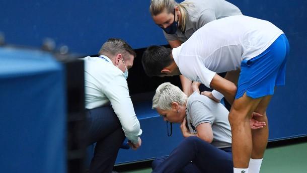 Novak Djokovic bei US Open disqualifiziert