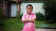 """Trotz ihrer Krankheit ein fröhliches Kind: Shewit Tesfayi im """"Cancer Home"""", einem Wohnheim für Krebskranke in Addis Abeba. Dort lebt sie während ihrer Behandlung."""