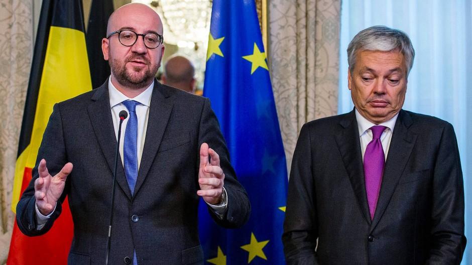 Belgiens Regierungschef Charles Michel und sein Außenminister Didier Reynders halten an Ceta fest.